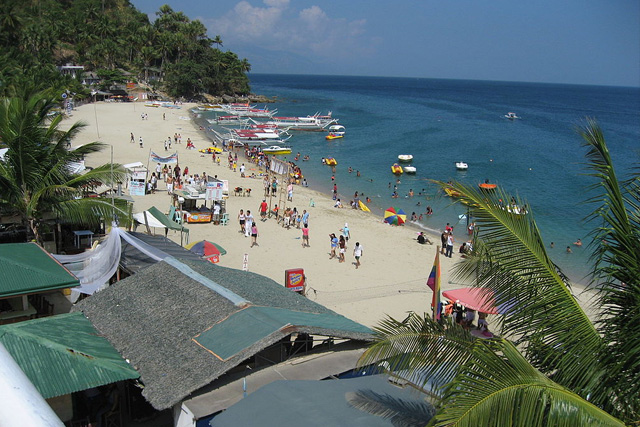 File Photo White Beach In Puerto Galera Oriental Mindoro Philippines Looking Towards The West End Credits Eugene Alvin Villar Via Wikipedia