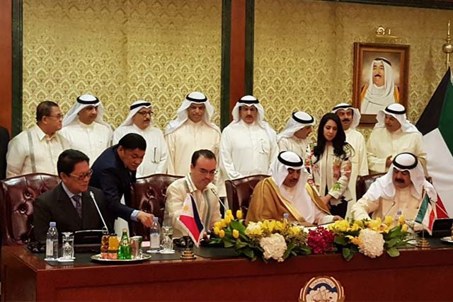 PH, Kuwait sign labor deal