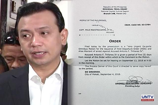 Philippine senator defies Duterte's arrest order in Senate standoff