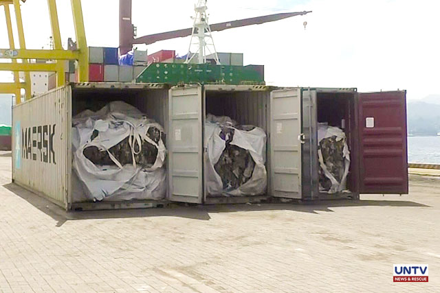 Containers of mixed waste materials shipped from South Korea to the Philippines