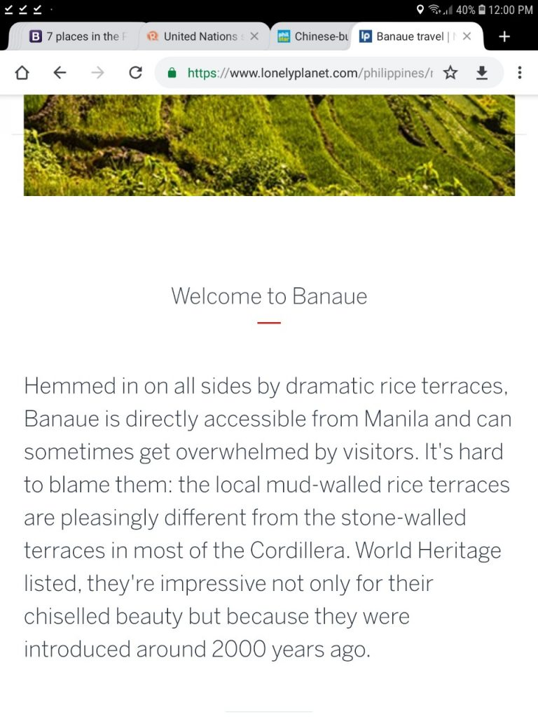 Lonely Planet in hot seat for saying Chinese built Banaue