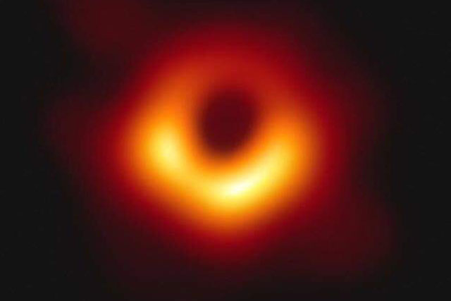 Image of a black hole at the center of Messier 87 galaxy 55m light years from Earth | Courtesy Reuters