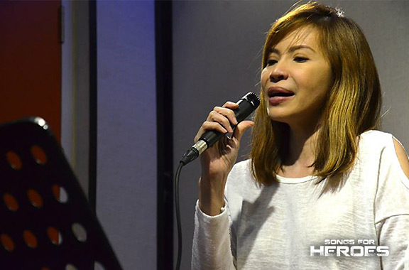 Theater actress Jenine Desiderio prepares for her stint on the upcoming Songs for Heroes 2 benefit concert.