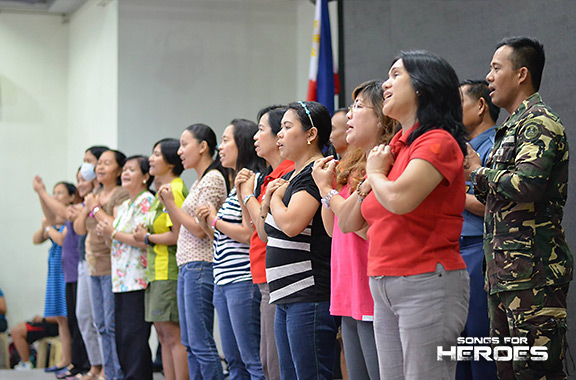 The combined vocal prowess of the AFP and PNP will be one of the highlights of the upcoming Songs for Heroes 2.