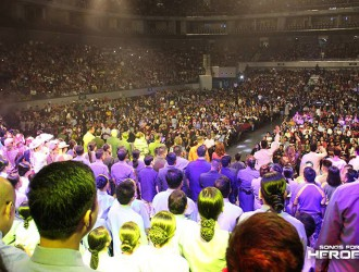 A big crowd fills the Mall of Asia Arena to the brim to show support for the charity concert, Songs for Heroes 2.