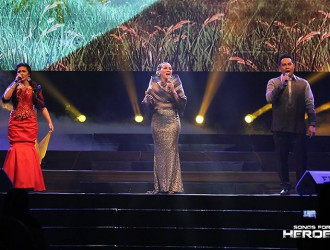 Three of today's brightest stars in the OPM industry – Kuh Ledesma, Jed Madela and Gerphil Flores – give a world-class performance during the Songs For Heroes 2 benefit concert.
