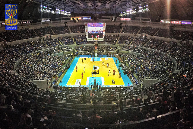 A jam-packed Araneta crowd witness the opening ceremonies of UNTV Cup Season 6. (Photo by Louie Banao)